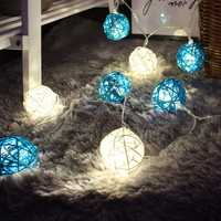 KCASA DSL-5 Gardening 5M 40LED String Light Ratten Shape Holiday Garden Party Wedding Decoration