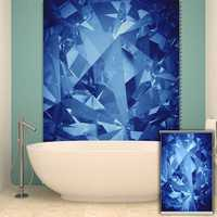 PAG Roller Shutters Painting Roller Blind Background Wall Decor Blue Window Curtain Home Decor