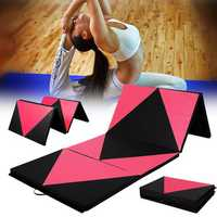70x47x1.97inch Foldable Gymnastic Mat Gym Exercise Yoga Pad Tumbling Fitness Panel