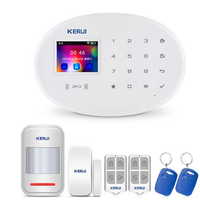 KERUI W20 Wireless RFID SIM GSM Burglar Sensor Home Security WIFI Alarm System IOS Android APP Control LCD Touch Keyboard