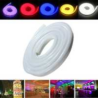 2M 2835 LED Flexible Neon Rope Strip Light Xmas Outdoor Waterproof 220V