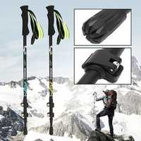 Xmund XD-TK1 3-section Carbon Fiber Adjustable Canes Climbing Hiking Stick Trekking Pole Alpenstock