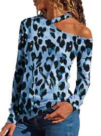 Women Halter Leopard Print T-shirts