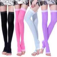 Women Winter Warm Vintage Spandex Good Elastic Silk Socks
