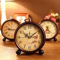 Vintage Aralm Clock Table Desk Wall Clock Retro Rural Style Decorative Home Decor Clock
