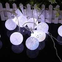 KCASA CSL-7 Gardening 5M 20LED String Light Snow Ball Shape Holiday Garden Party Wedding Decoration