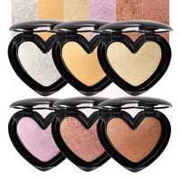 6Colors Heart Highlighter Eye Shadow Face Glow Powder Makeup