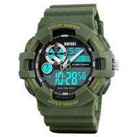 SKMEI 1312 Digital Watch Dual Display Military 50M Waterproof LED Sport Men Watch