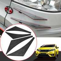 Carbon Fiber Pattern Car Front Bumper Splitter Spoiler Wing Accessory Universal