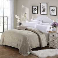 Honana WX-02 Air Conditioning Cool Quilt Solid Color Washing Cotton Bedding Bedspread Summer Quilt