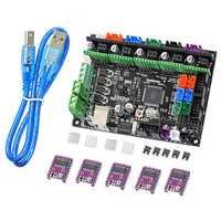 MKS GEN-L V1.0 Integrated Controller Mainboard + 5pcs DRV8825 Stepper Motor Driver Kit Compatible Ramps1.4 1.6/Mega2560 R3 For 3D Printer