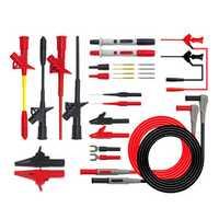 P1300F Replaceable Multimeter Probe Test Hook&Test Lead Kits 4mm Banana Plug Alligator Clip Test Stick