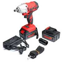 25V 8800mAh Li-ion Electric Wrench 320Nm High Torque Impact Wrench Cordless 1/2 Batteries 1 Charger