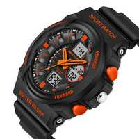 SANDA 241 Waterproof Dual Display Backlight Sport Children LED Digital Watch