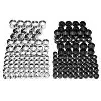 76pcs Screw Bolt Topper Caps Cover For Harley Davidson Twin Cam Dyna 1991-2013