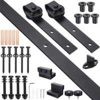8.2ft Sliding Barn Door Hardware Set Interior Track Carbon Steel Accessories Tools Kit