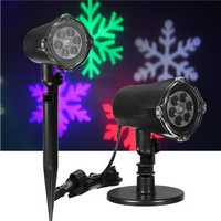 4W RGB Snowflake Waterproof Laser Projector LED Stage Light Moving Outdoor Landscape Christmas Decor