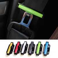 2pcs Adjustable Car Safety Belt Buckle Fasten Seat Clips Security Band Fixation