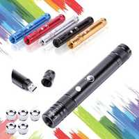 U KING ZQ-J36 532nm USB Rechargeable Green Laser Pointer Flashlight Laser Pen with 5 Sky Stars