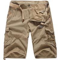 Men's Outdoor Casual Striped Cotton Cargo Shorts