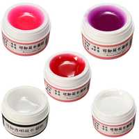 5 Colors Nail Art Gel Extension Manicure Model Transparent Clear Phototherapy DIY Design
