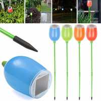 4PCS Solar Power LED Buried In Ground Lights Garden Path Lawn Fence Lighting Lamp