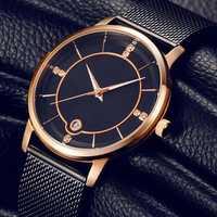 Casual Style Calendar Stainless Steel Ladies Wrist Watch