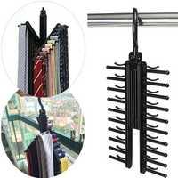 360 Degree Rotatable Adjustable Belt Hanger Tie Rack Scarf Holder