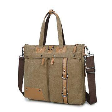 Men Multifunctional Crossbody Bag Canvas Computer Backpack High end Briefcase