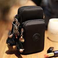 Mobile Phone Bag Female Messenger Bag Large Screen Mobile Phone Bag Coin Purse Hanging Neck Wrist Bag Waterproof Mini Bag