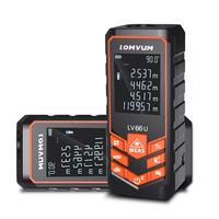 LOMVUM LV 66U 100M Handhold Laser Rangefinder Digital Laser Distance Meter Electrical Level Tape Laser Distance Measurement