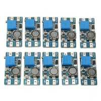 10 Pcs Step Up Power Spply Module 2A 2V-24V DC-DC Booster Power Module