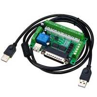 Geekcreit® 5 Axis CNC Breakout Interface Board For Stepper Motor Driver Mach3 With USB Cable