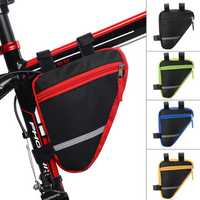 BIKIGHT Cycling Bicycle Frame Pannier Tube Triangle Bike Saddlebags Pouch Waterproof MTB Bike Storage Bag