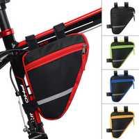 BIKIGHT Cycling Bicycle Frame Pannier Tube Triangle Bike Saddlebags Pouch Waterproof MTB Bike Storage Bag