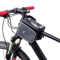BIKIGHT 6 Inch Bike Bag Bicycle Front Tube Bag Waterproof Cycling Portable Storage Bag Phone Touch Screen Bag
