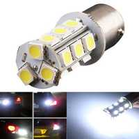 1156 BA15S 5050 18SMD Car White LED Tail Reverse Turn Light Bulb