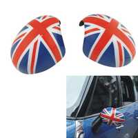 2Pcs Union Jack Pattern Door Mirror Cover for BMW Mini Cooper Countryman Electric Model