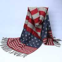 Women Ladies Cashmere Woolen Imitation Thickening Scarves Tassel Warm Long Shawls