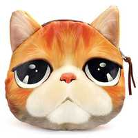 Women 3D Cat Dog Purse Noctilucent Cartoon Animals Wallet Coin Bags Clutches