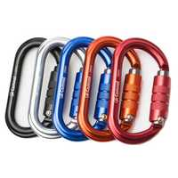 CAMNAL Aluminum Alloy Carabiner O Shape Buckle Outdoor Climbing Hunting Hanging Buckle