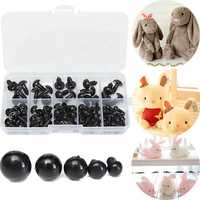 100pcs 6-12mm Black Plastic Safety Eyes For Dolls Puppets Animal Crafts Stuffed Toy DIY Craft