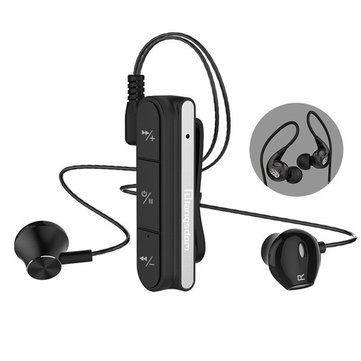 Langsdom BX10 Clip bluetooth Earphone HiFi Stereo Sports Noise Cancelling With Magnetic Metal Cable