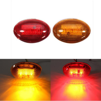 Yellow Red Clear Lens LED Side Marker Lights for Ford F-350 Series Pickup Kit