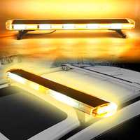 47Inch 88W LED Emergency Strobe Lights Bar Flash Warning Lamp Yellow & White for Car Truck SUV