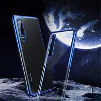Baseus Transparent Plating Shockproof Soft TPU Back Cover Protective Case for Huawei P30