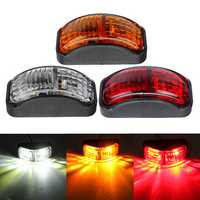 2-SMD LED Side Marker Lights Clearance Lamp 12-30V 54x24mm E4 Red/Yellow/White for Truck Trailer Van