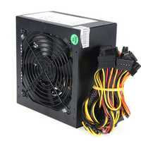1000W Power Supply 120mm Fan Active PFC 80+ Efficient 2-PCIE LED Fan Gaming ATX PC Power Supply