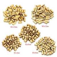 50pcs M3 Brass Female Threaded Hex Standoffs Spacer Nut 4/6/8/10/12mm