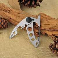 EDC Multi-function Stainless Steel Camping Buckle Portable Key Ring Mountaineering Survival Gadgets